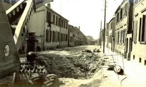 August-Bebel-Staße, heute  Kleistraße,  Bau der   Abwasserleitung 1962-1964
