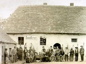 """Der ehemalige """"Lustkrug"""" um 1900"""