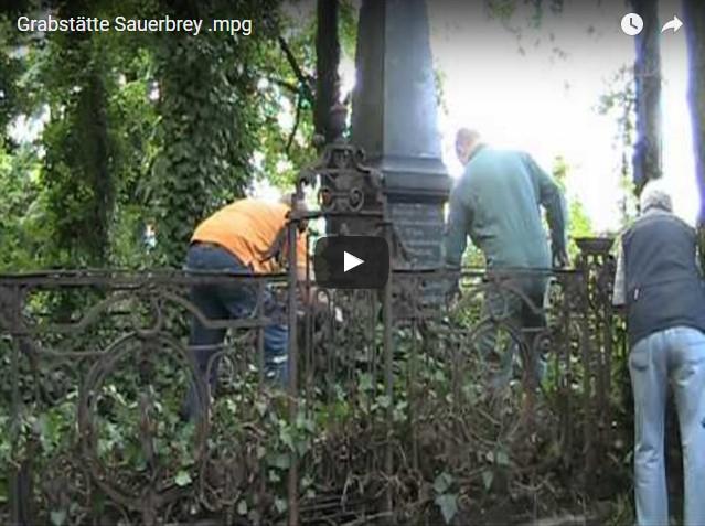 Die Grabstätte der Familie Sauerbrey.