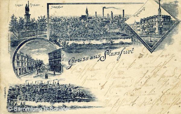 Gruß aus Staßfurt von 1894