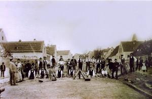 Pflasterung der Magdeburg-Leipziger Straße 1902