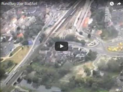 Rundflug über Staßfurt Anfang der 90-ger Jahre